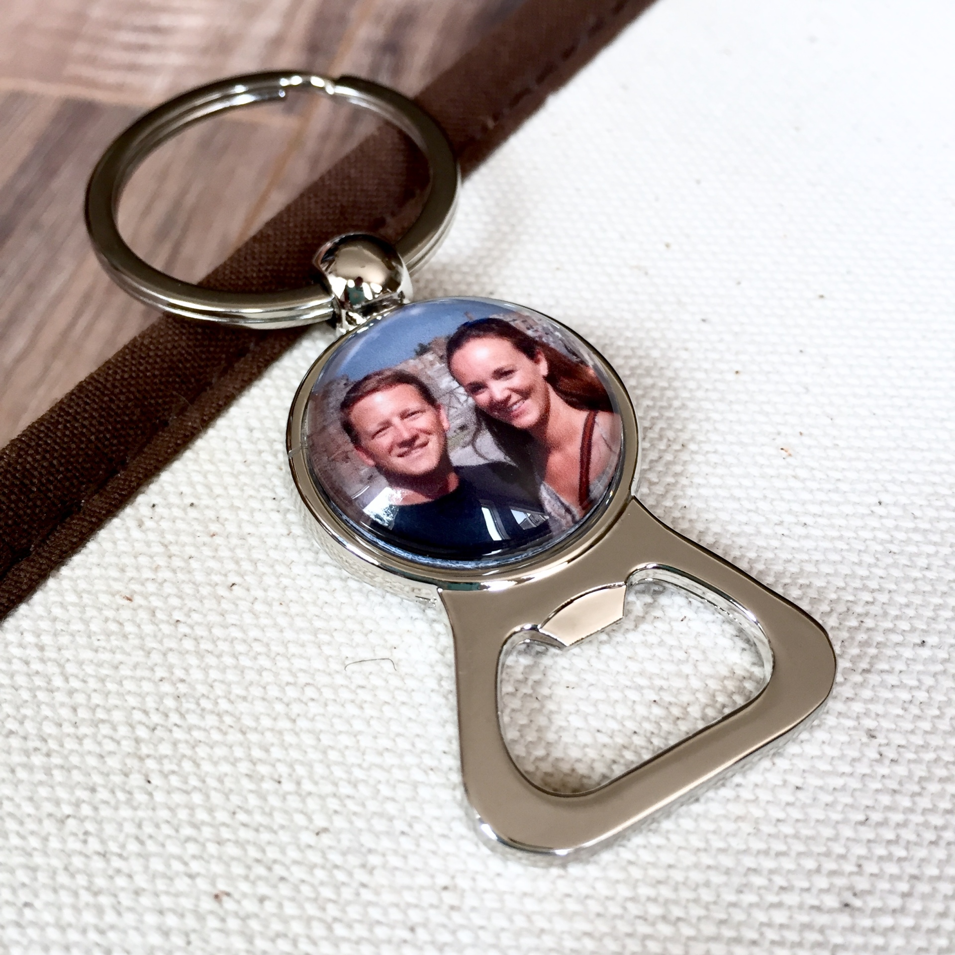 Photo Bottle Opener Keychain